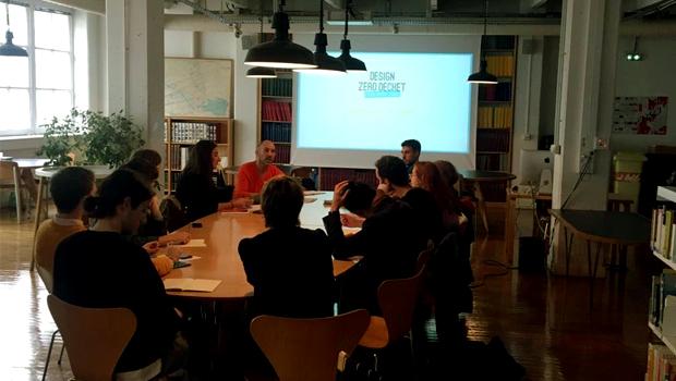 Photo du séminaire de présentation du concours Design Zéro Déchet, le 7 octobre 2019 aux ateliers ENSCI