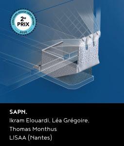 2e prix du concours DZD 2020 : le projet SAPN. d'Ikram Elouardi, Léa Grégoire et Thomas Monthus