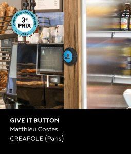 3e prix du concours DZD 2020 : le projet Give it button de Matthieu Costes