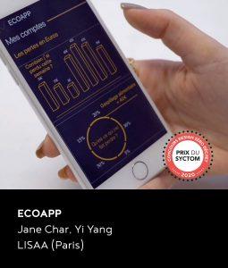 Prix du Syctom du concours DZD 2020 : le projet Ecoapp de Jane Char et Yi Yang