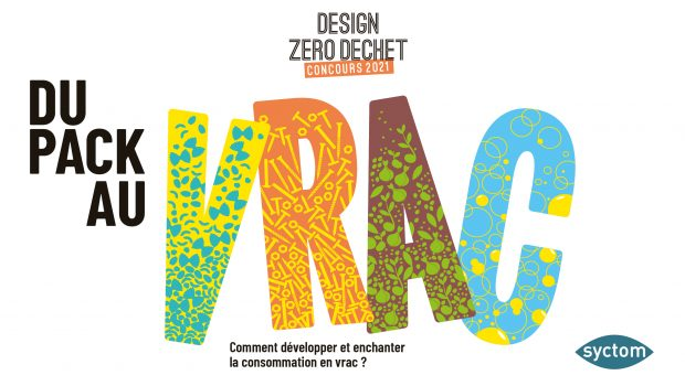Visuel du concours Design Zéro Déchet 2021 consacré à l'achat et la vente en vrac