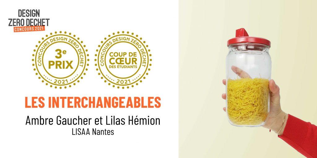 Perspective du projet Les Interchangeables, 3e prix du concours Design Zéro Déchet 2021, créé par Ambre Gaucher et Lilas Hémion de LISAA Nantes.