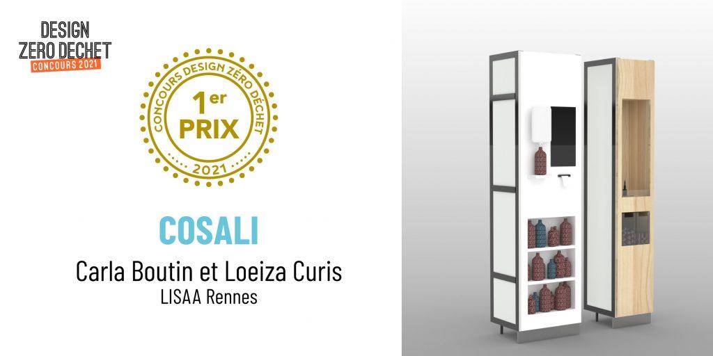 Perspective du projet Cosali, 1er prix du concours Design Zéro Déchet 2021 créé par Carla Boutin et Loeiza Curis de LISAA Nantes.