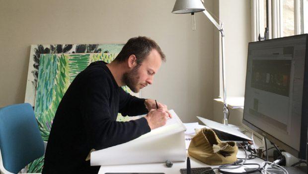 Photo de Thibaut Guittet, illustrateur et premier lauréat du concours Design Zéro Déchet en 2012