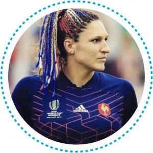 Photo de la joueuse professionnelle de rugby Lénaïg Corson, marraine de la 10e édition du concours Design Zéro Déchet.